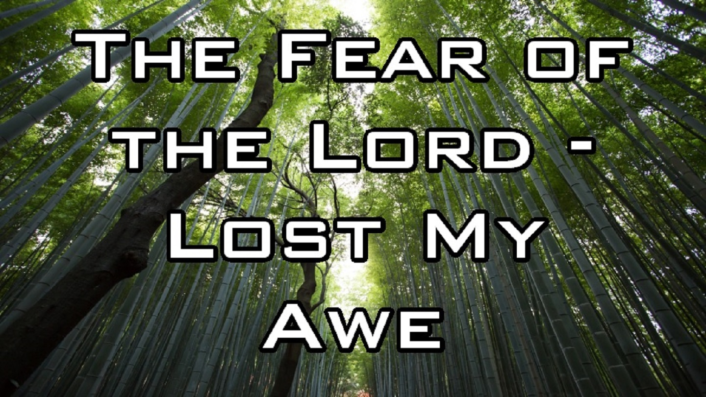 The Fear of the Lord - Lost My Awe