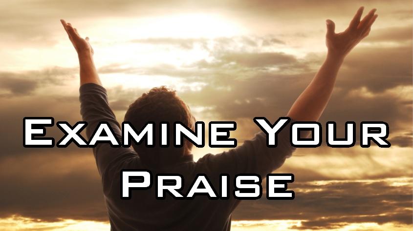Examine Your Praise