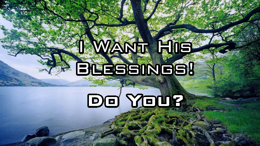 I Want His Blessings Do You