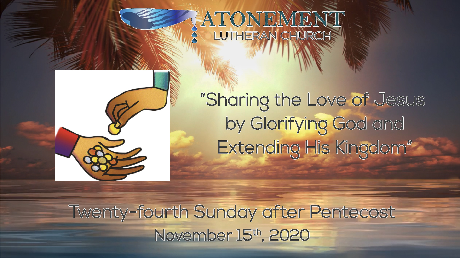 Nov 15 2020 24th Sunday after Pentecost