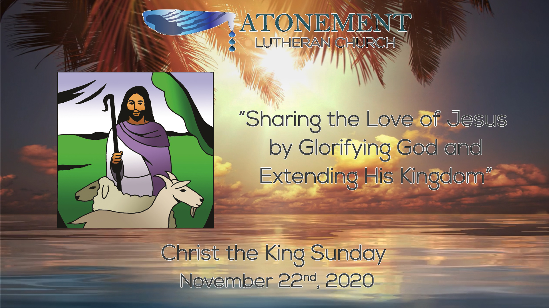 Nov 22 2020 24th Sunday after Pentecost