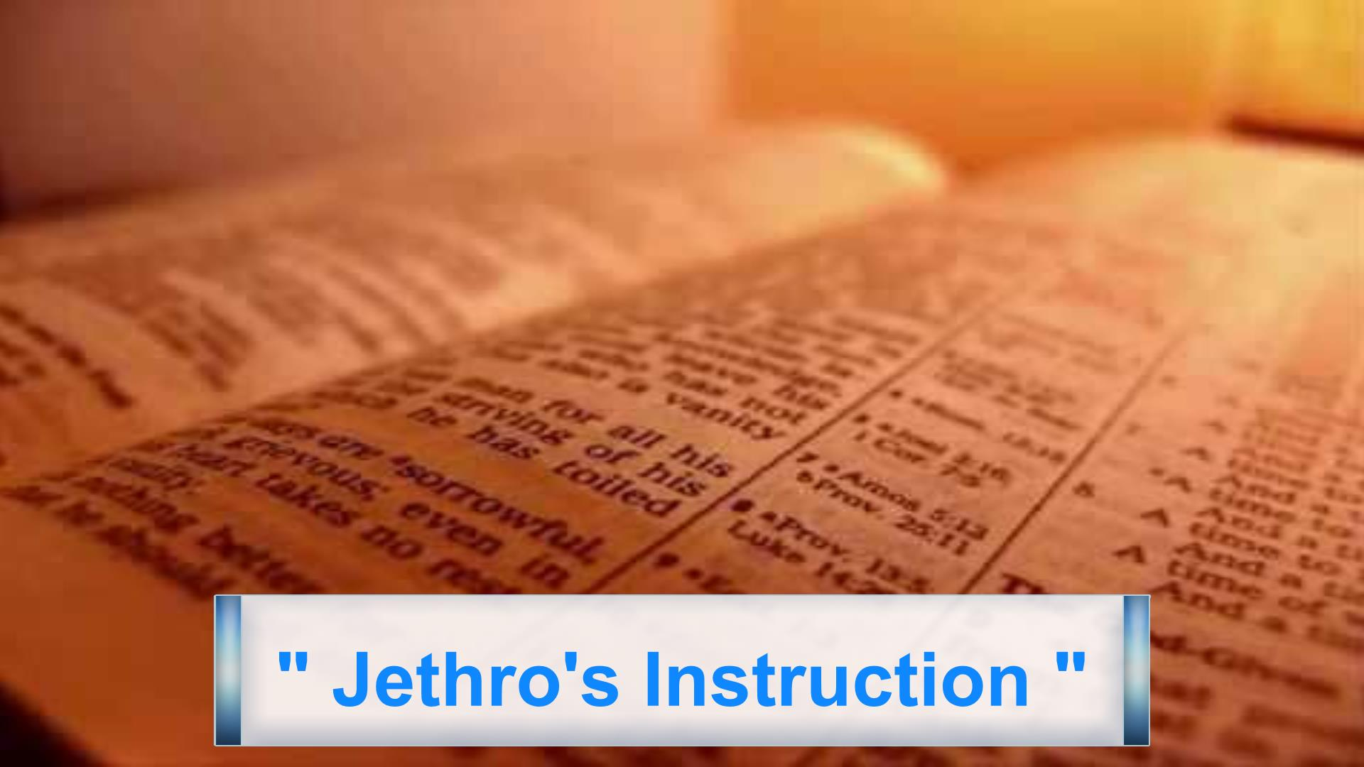 Jethro's Instruction