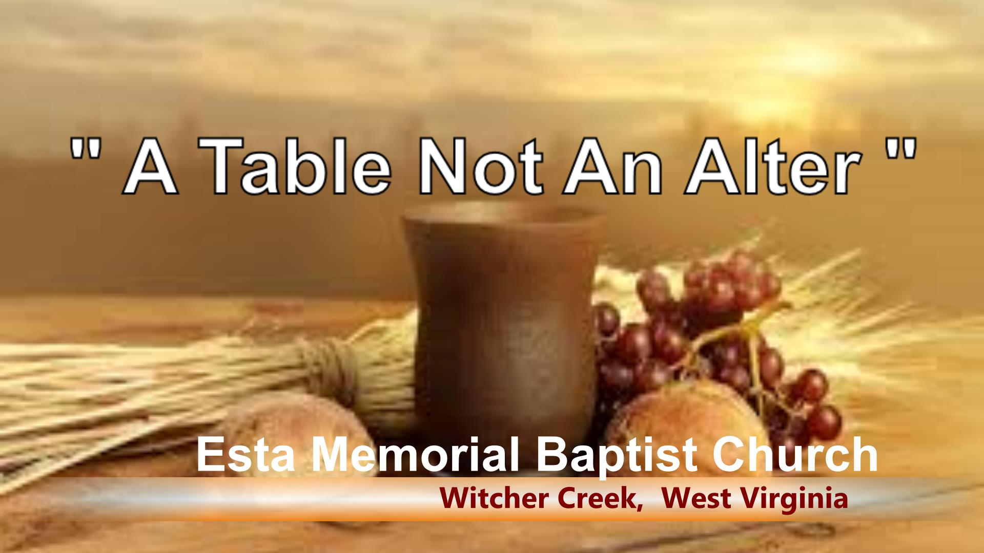 A Table Not An Alter