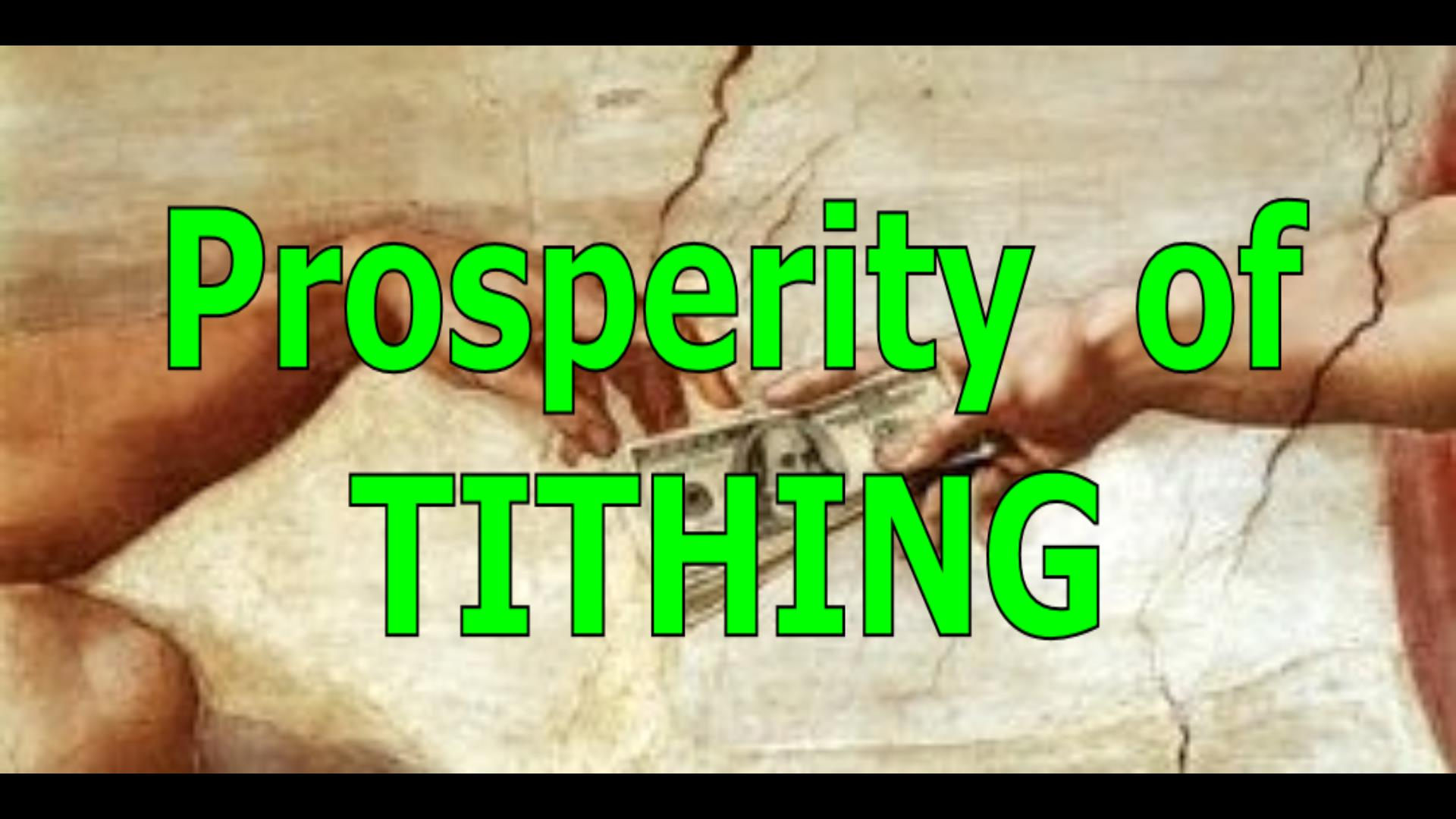 Prosperity of Tithing