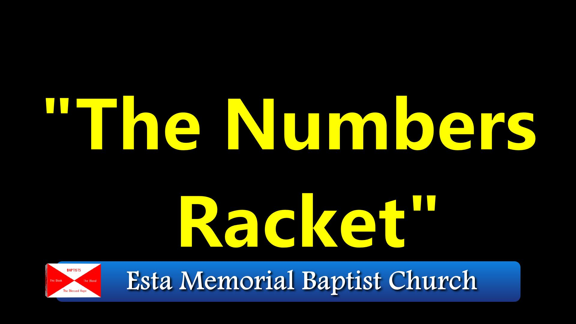 The Numbers Racket