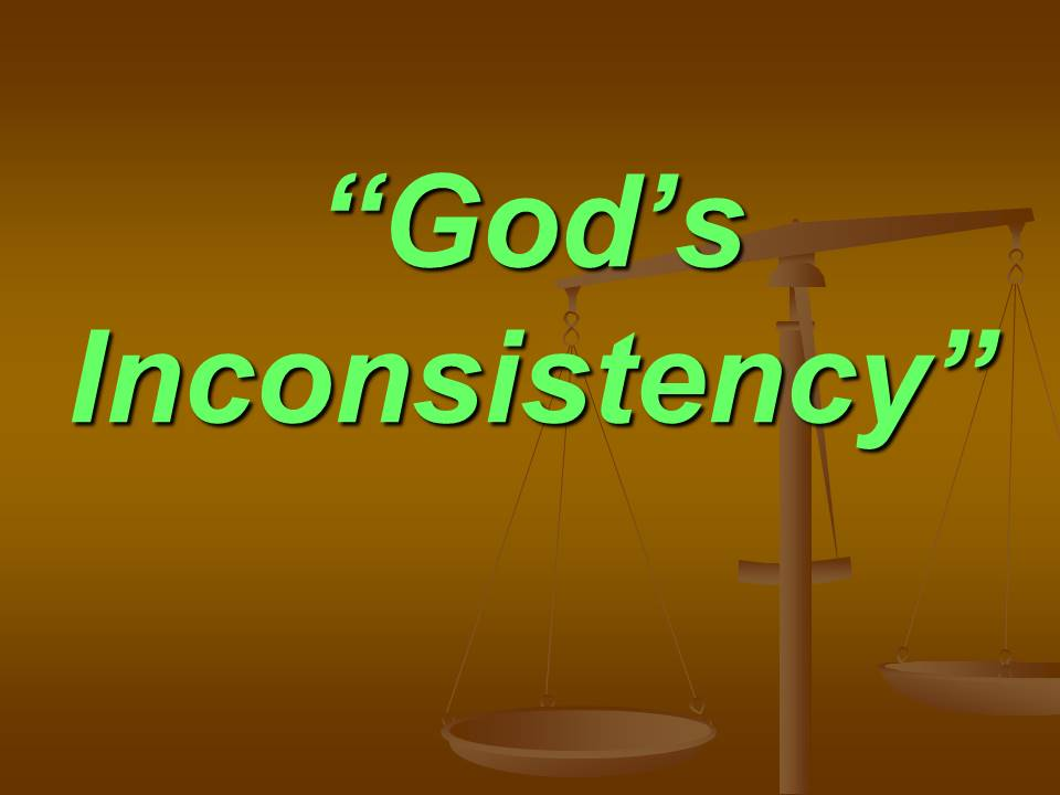God's Inconsistency PM