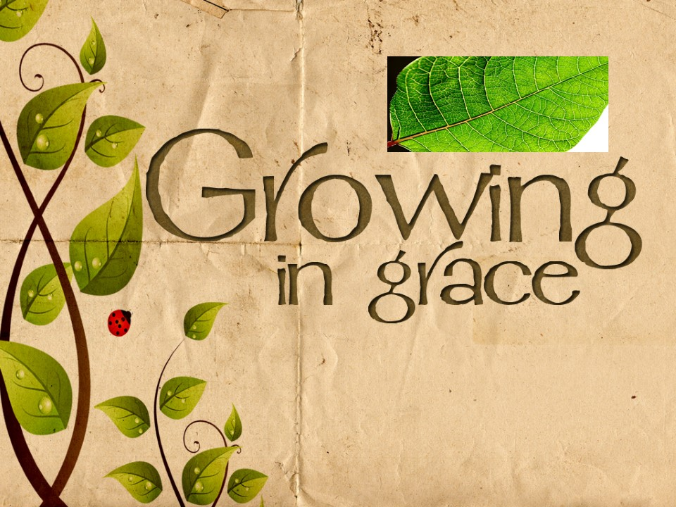 Growing in Grace  AM