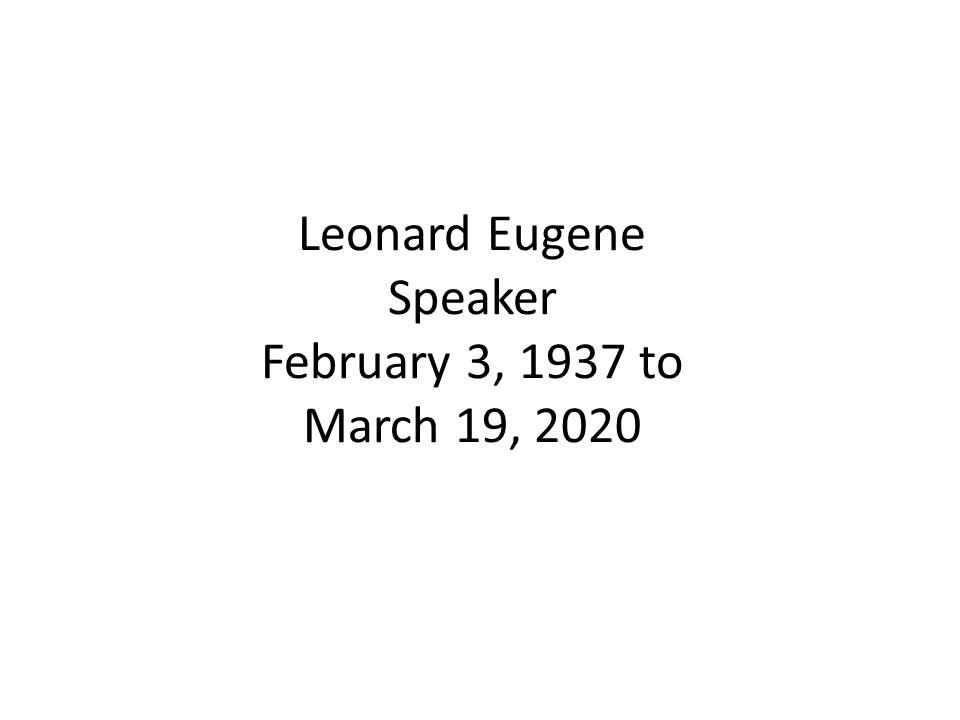 Leonard Speaker Funeral