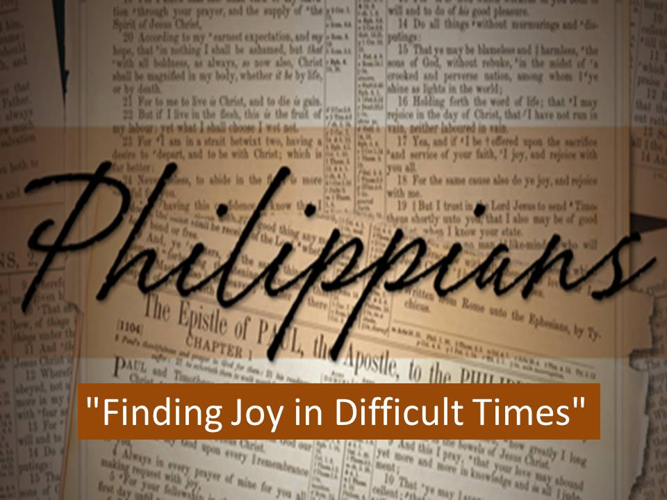 Rejoicing in the Gospel--Philippians 1:12-1