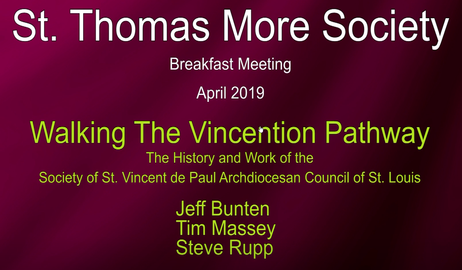 St Vincent de Paul Society St Louis