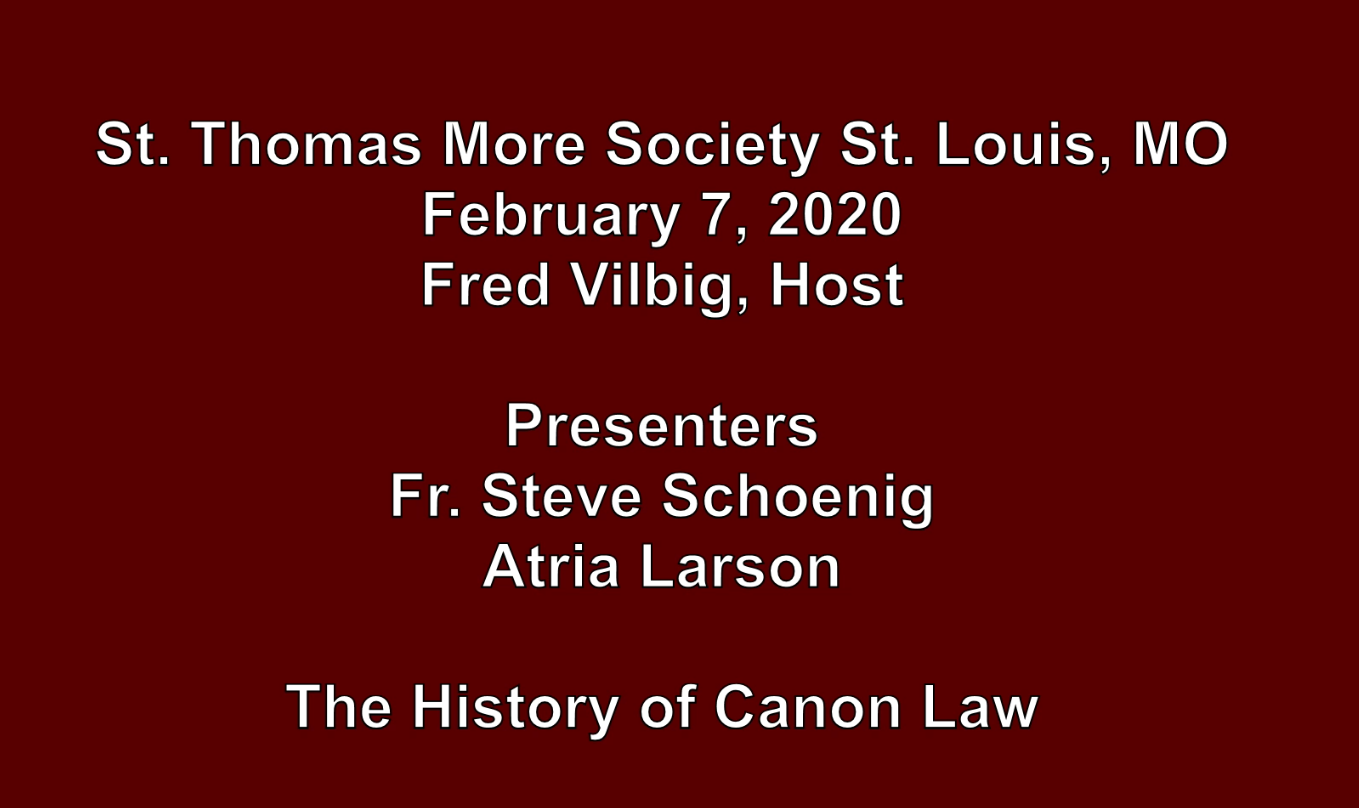 History of Canon Law