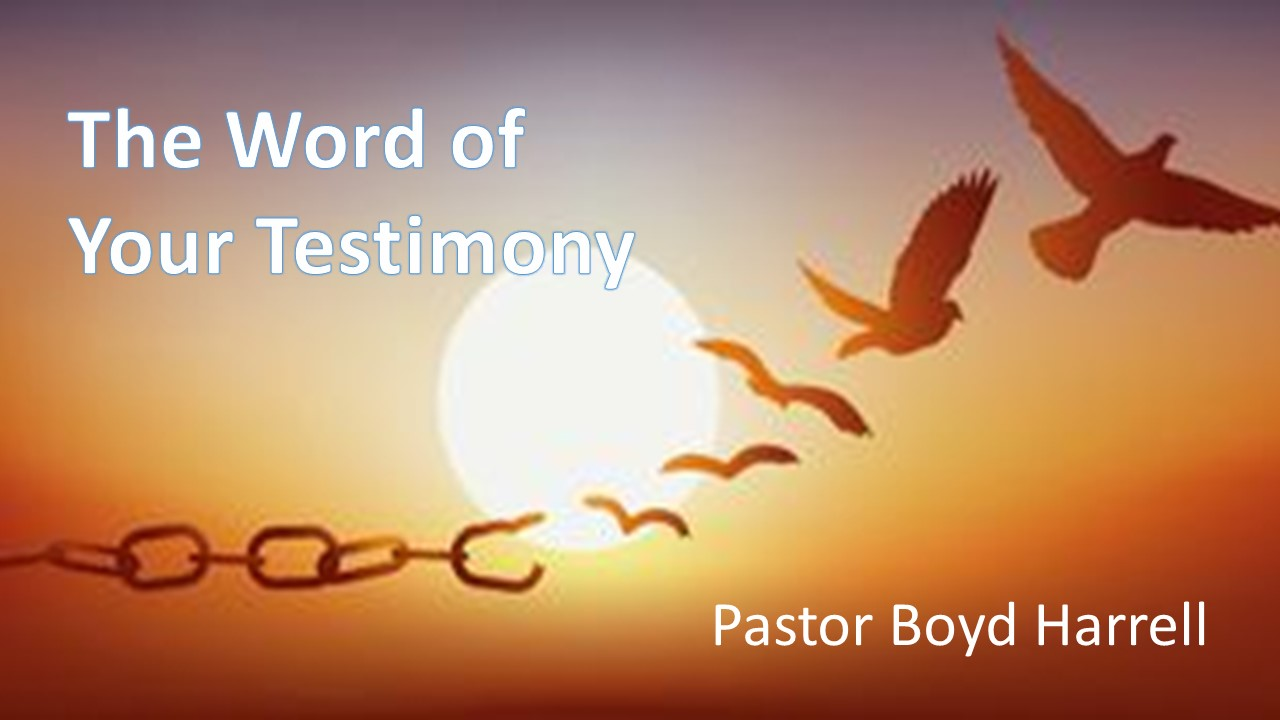The Word of Your Testimony