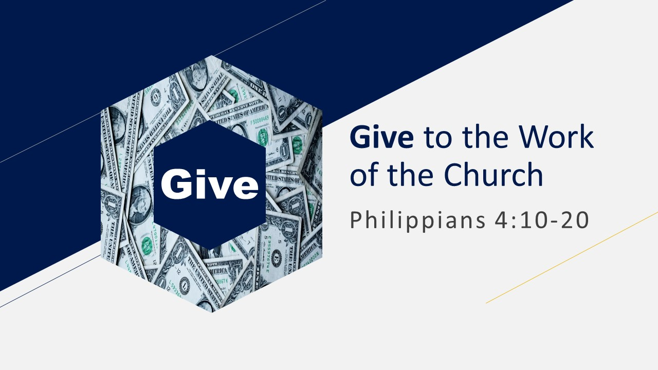 Give to the Work of the Church