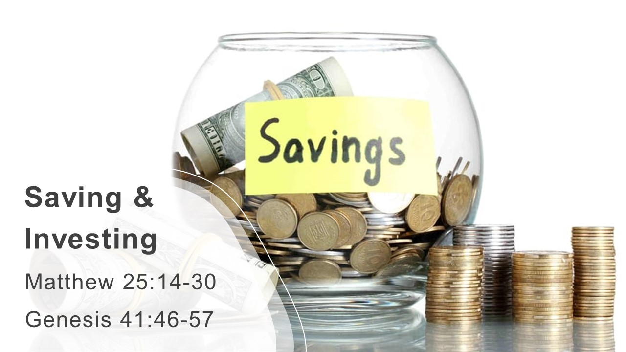Sunday Service Savings  Investing