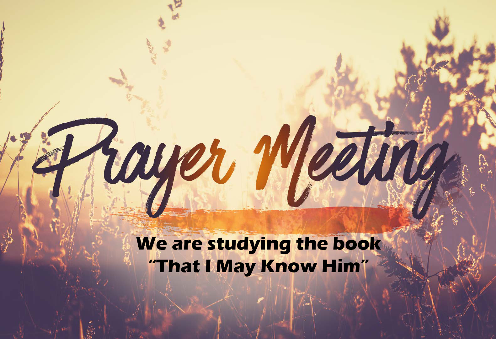 Prayer Meeting Study Time