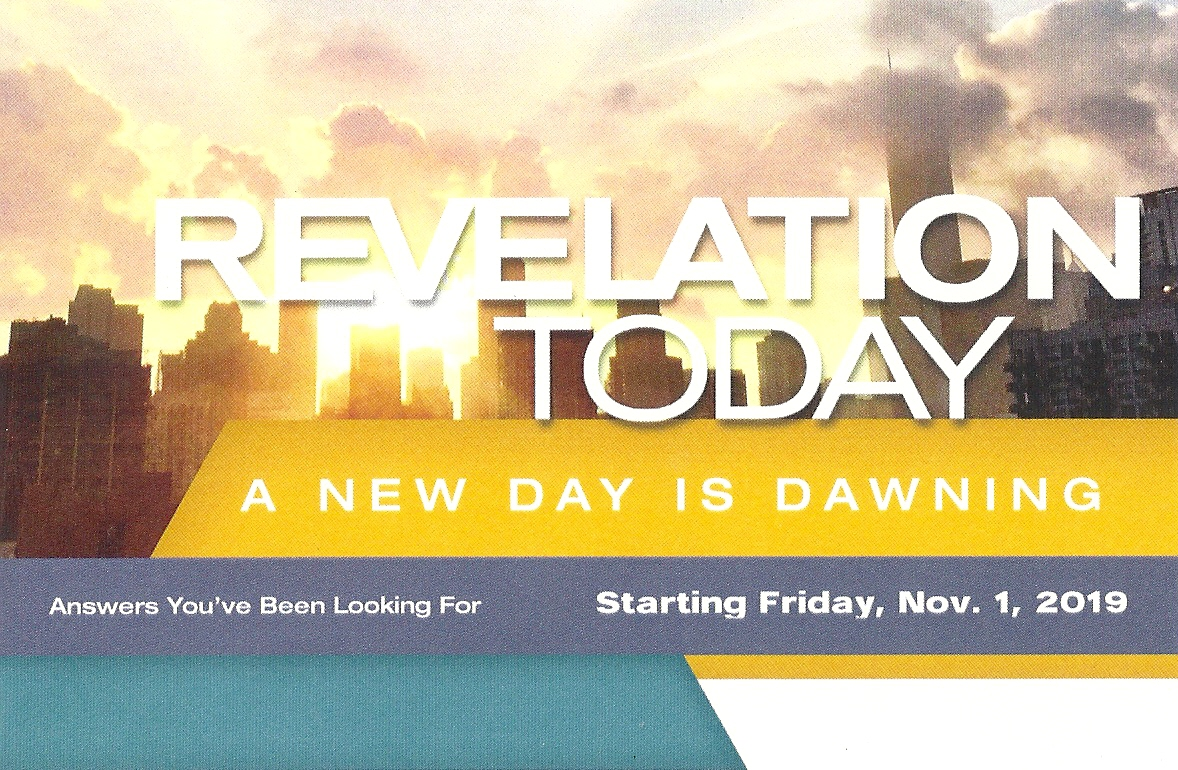 15Revelation Today  A New Day is Dawning