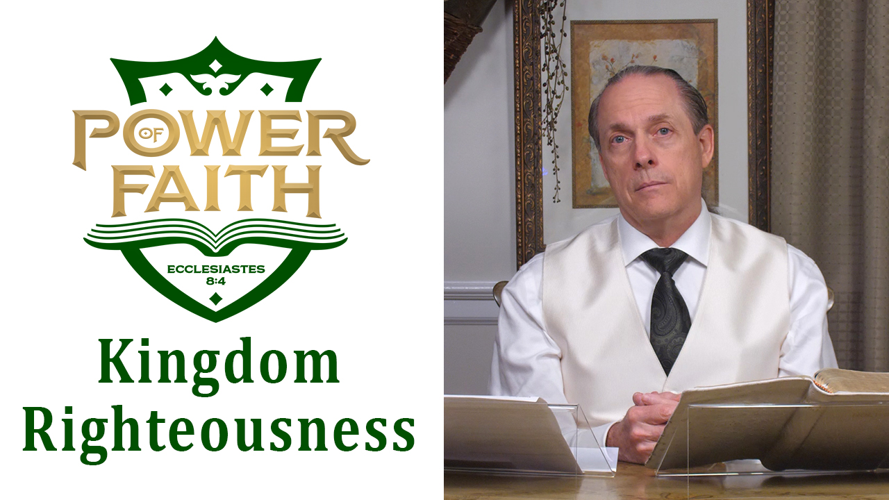 Ep 39  Kingdom Righteousness