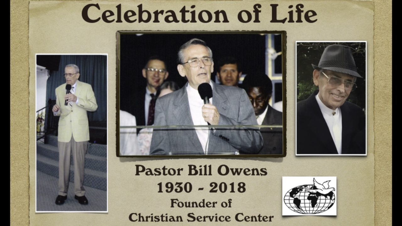 Celebration of Life Pastor Bill Owens