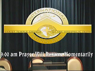 Prayer Service  September 17