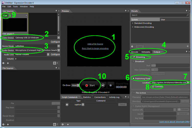 How To Webcast Using Microsoft Expression Encoder
